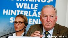 Co-lead AFD candidates Alexander Gauland and Alice Weidel attend a news conference in Berlin, Germany September 18, 2017. REUTERS/Axel Schmidt