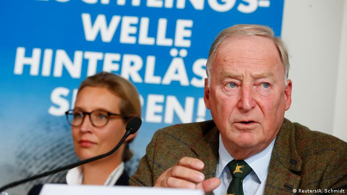 AfD leaders Alice Weidel and Alexander Gauland