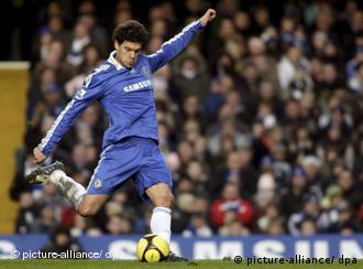 Michael Ballack steps up to score