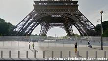Baubeginn für Glaswand um Eiffelturm