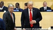 USA UN Generalversammlung in New York Donald Trump und Antonio Guterres