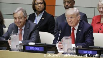 USA UN Generalversammlung in New York Donald Trump (picture-alliance/newscom/J. Angelillo)