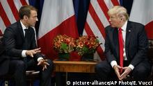 New York Emmanuel Macron, Donald Trump