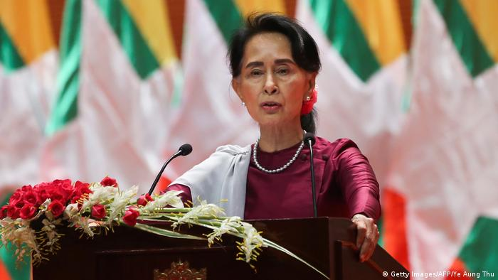 Myanmars Staatsrätin Aung San Suu Kyi (Foto: Getty Images/AFP/Ye Aung Thu)