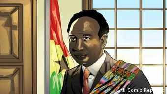 Kwame Nkrumah, 1. Präsident Ghanas, Porträt (Comic Republic)