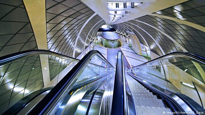 Escada rolante da estação de metrô Heumarkt, em Colônia