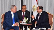 USA Netanjahu mit Al-Sisi (picture-alliance/ZUMAPRESS.com)