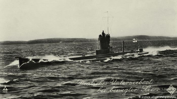 Deutschland U-Boot im 1. Weltkrieg Postkarte (picture alliance/akg-images)