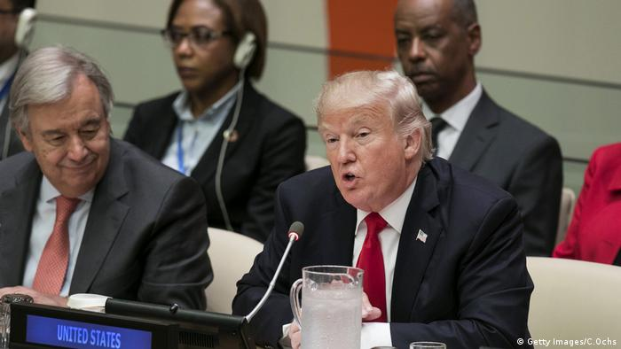 President Trump speaks at the UN