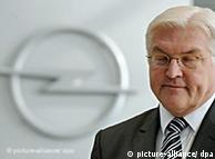 Frank-Walter Steinmeier at Opel