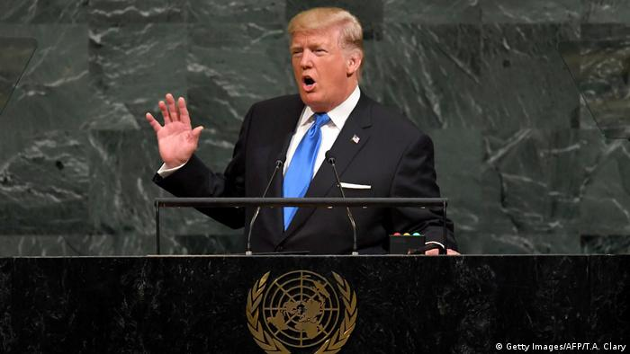 UN Generalversammlung in New York | Donald Trump, Präsident USA (Getty Images/AFP/T.A. Clary)