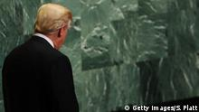 UN Generalversammlung in New York | Donald Trump, Präsident USA