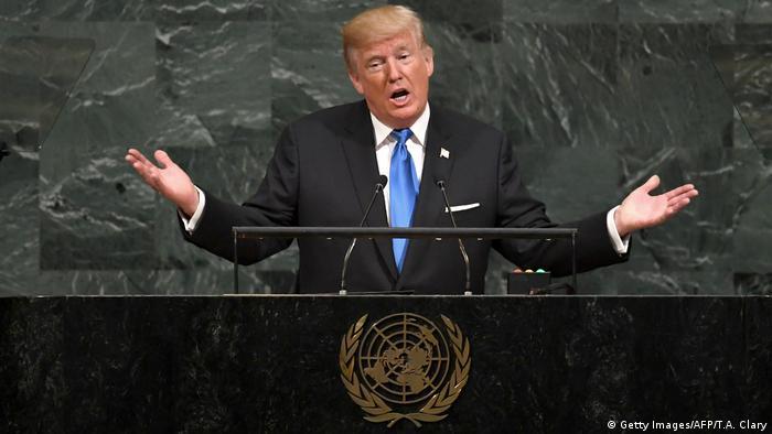 UN Generalversammlung in New York | Donald Trump, Präsident USA