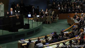 UN Generalversammlungung em Nova York | Donald Trump, Präsident EUA (Reuters / S. Stapleton)