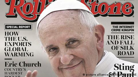 Pope Francis on the cover of Rolling Stone magazine (picture alliance/dpa/ROLLING STONE)