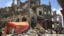 Destroyed building in the old city of Mogadishu (DW/S. Petersmann)