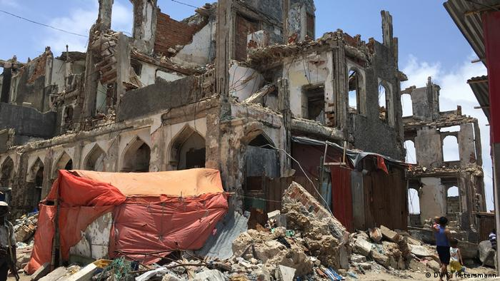 Destroyed house in Mogadishu (photo: DW/S. Petersmann)