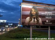 Рекламный баннер с изображением Мелании Трамп в Хорватии