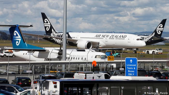 Neuseeland Kerosinmangel Flugzeuge am Flughafen Auckland