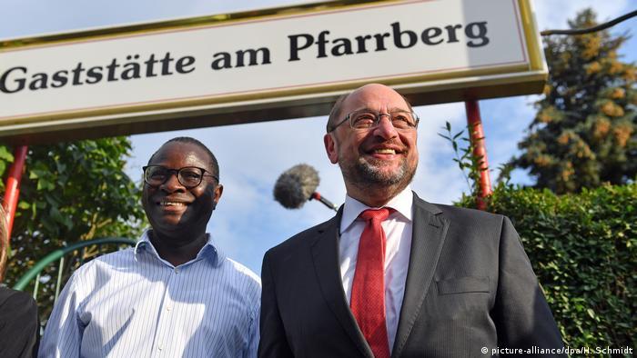 Karamba Diaby and Martin Schulz