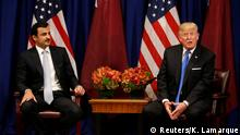 USA Trump mit Al-Thani in New York