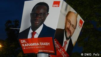 Deutschland Karamba Diaby SPD Wahlkampf 2017 in Halle