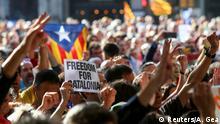 Spanien Proteste nach der Festanahme von Josep Maria Jove in Barcelona