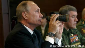 Vladimir Putin observes the Zapad exercises