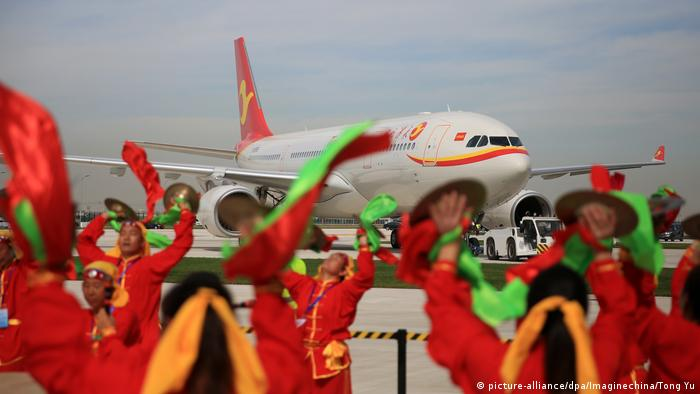 China Airbus weiht neue Fertigungsanlage in Tianjin ein (picture-alliance/dpa/Imaginechina/Tong Yu)