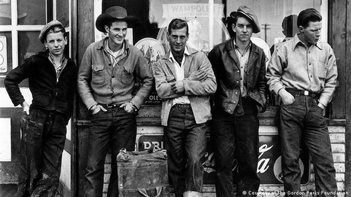 Drugstore Cowboys, Turner Valley, Canada, 1945 (Courtesy of The Gordon Parks Foundation)