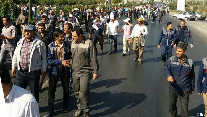 Irak, Arbeiter protestieren gegen Arbeitsbedingungen (ilna)