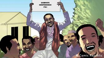 Julius Nyerere, 1. Präsident Tansanias feiert Unabhängigkeit seines Landes