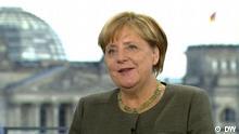 Deutschland wählt DW Interview mit Angela Merkel