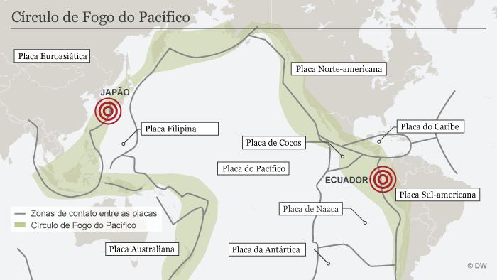 Karte Infografik Pazifischer Feuerring BRA