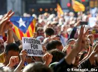 Акція на підтримку референдуму в Барселоні