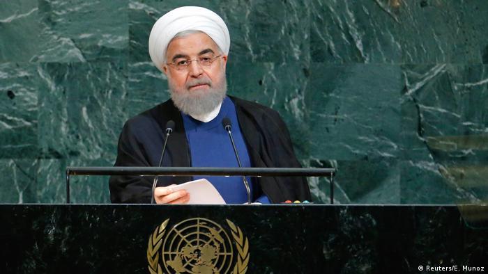 USA Rohani vor der UN-Vollversammlung (Reuters/E. Munoz)