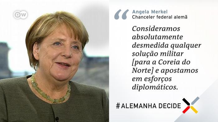 Angela Merkel Zitattafel Portugiesisch | Nordkorea