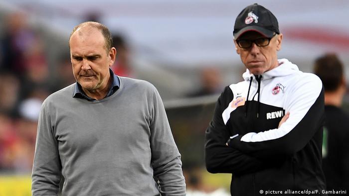 1. FC Köln - Eintracht Frankfurt | Schmatke und Stöger stinkesauer (picture alliance/dpa/F. Gambarini)