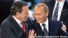 Deutschland Gerhard Schršöder und Wladimir Putin
