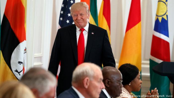Donald Trump num encontro com líderes africanos em Nova Iorque (setembro de 2017)