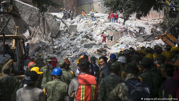 После землетрясения в Мексике