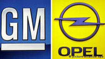 GM and Opel company logos