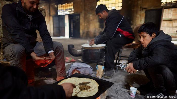 Belgrad, Bäckerei afghanischer Flüchtlinge in Serbien