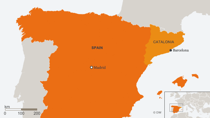 Karte Katalonien ENG