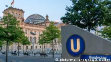 Deutschland Reichstagsgebäude in Berlin