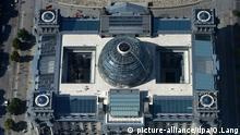 Toma aérea del Reichstag, sede del Parlamento alemán.