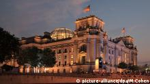September 12, 2017 - Berlin, Germany - Reichstag building, opened 1894, seat of the German parliament and meeting place of the Bundestag, refurbished by Norman Foster 1990-99, including the addition of the huge glass dome, Berlin, Germany. The building sits on the river Spree. Picture by Manuel Cohen |