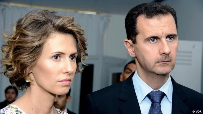 Syrian leader Bashar Assad with his wife