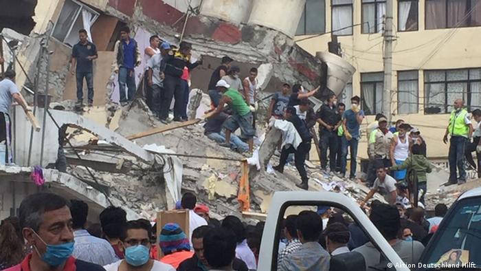 Mexiko, Aktion Deutschland Hilft beim Erdbeben