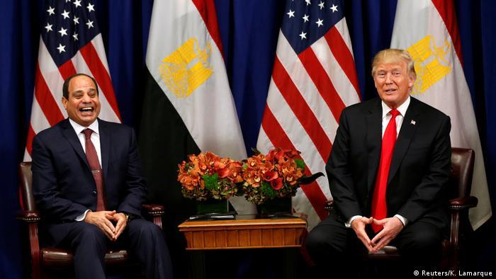 الرئيس الأمريكي ونالد ترامب ونظيره المصري عبد الفتاح السيسي - لقاء في 20 سبتمبر/ أيلول 2017